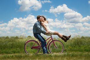 glückliches gesunde paar